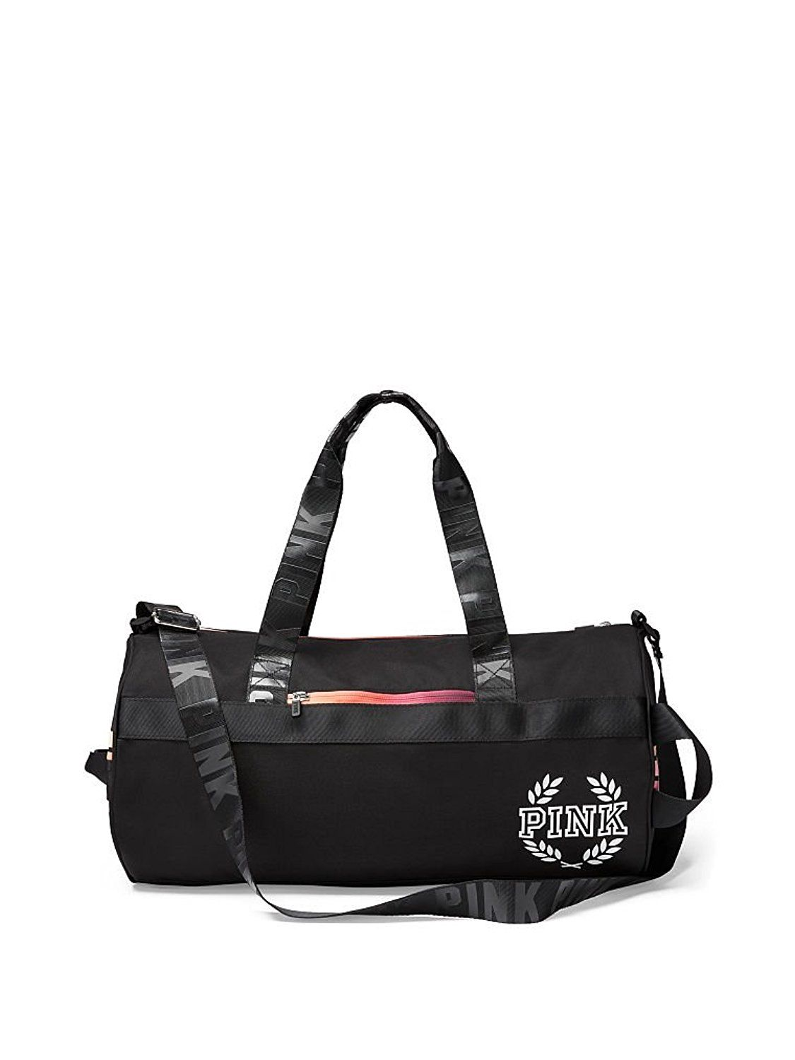 8b64279081a8 Victoria s Secret PINK Gym Duffer Bag Pure Black Gradient -- You can find  more details by visiting the image link.
