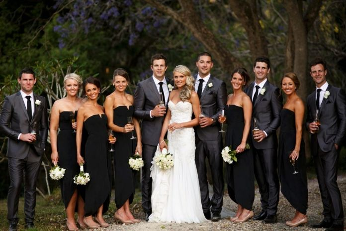 Modern Chic Bridal Party Image By Blumenthal Photography