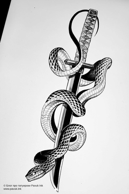 Тату змея значение и символы