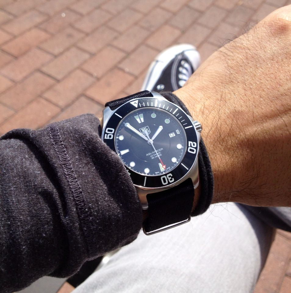 Tag Heuer Aquaracer on Nato Strap | Watches for men, Nato ...