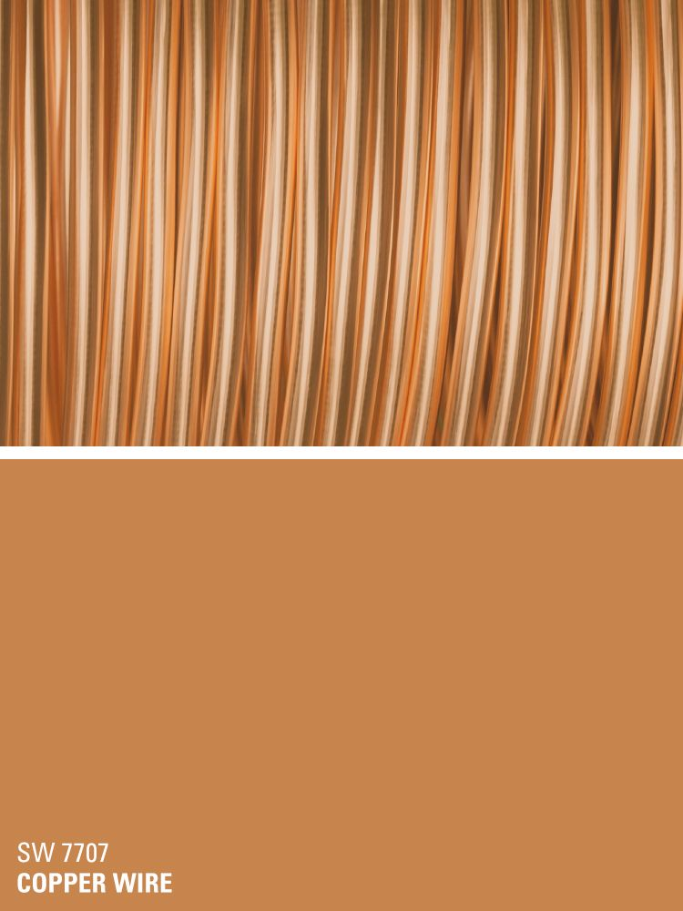 Sherwin Williams Orange Paint Color Copper Wire Sw 7707