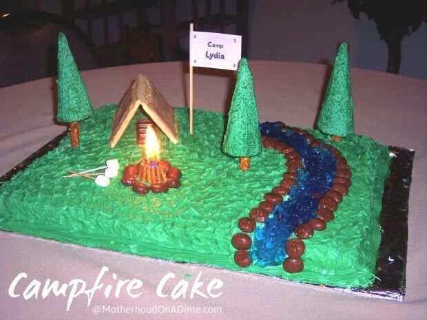 SimpleBoyScoutCakes Camping Theme Cakes POTATOES Pinterest