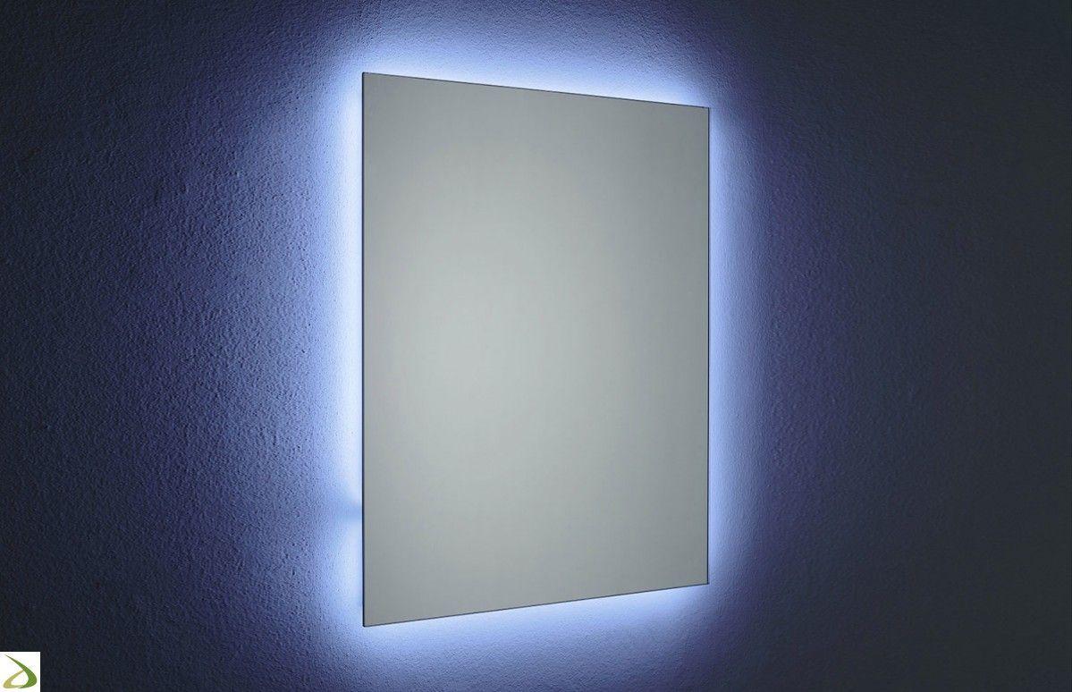 Faretti bagno ~ Specchiera design da bagno con illuminazione perimetrale a led