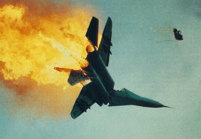 Mig29 pilot ejection