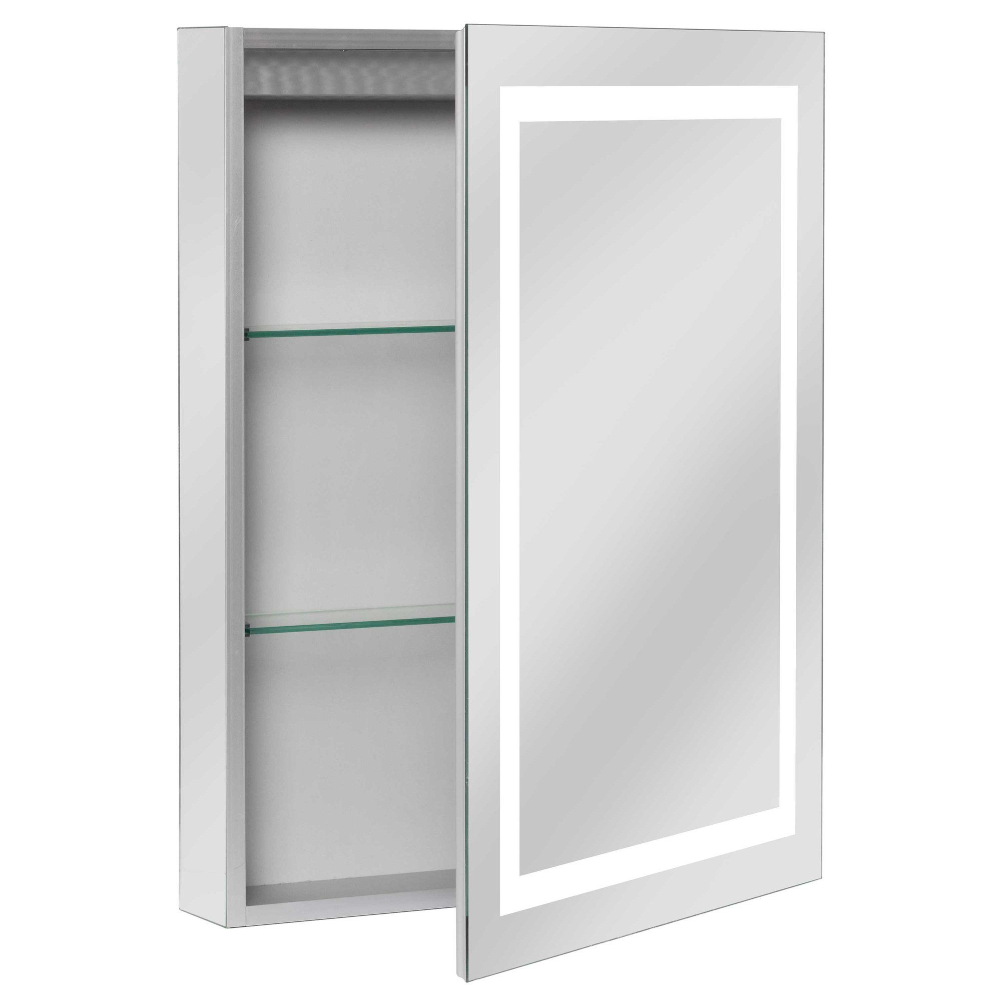 Ponticus 20 X 28 Recessed Medicine Cabinet With Led Lighting Lighted Medicine Cabinet Recessed Medicine Cabinet Washroom Decor