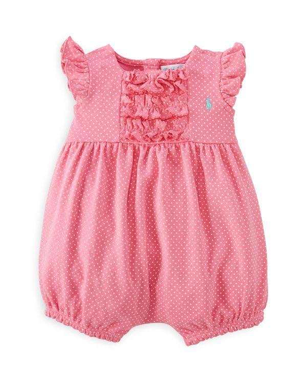 6ce72eb61e6f Ralph Lauren Infant Girls  Ruffled Plaid Bubble Shortall - Sizes 3-12 Months