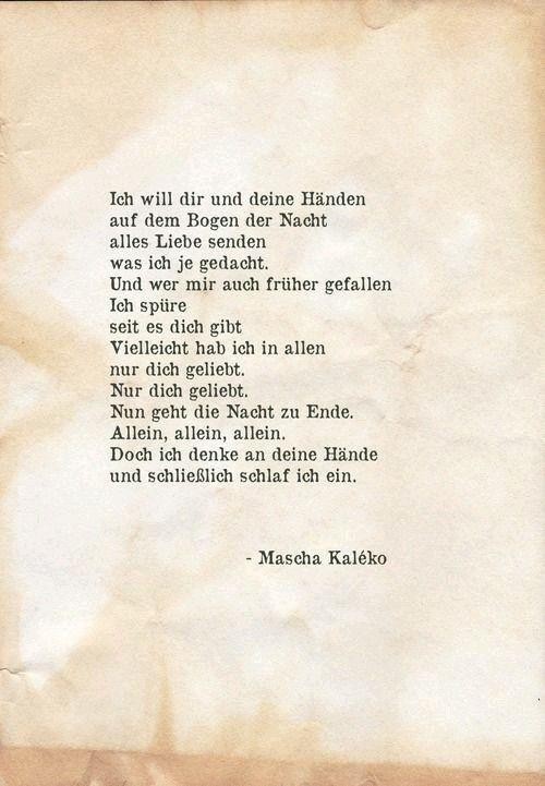 So Schön Mascha Kaleko Gedichte Gedichte Liebe Und