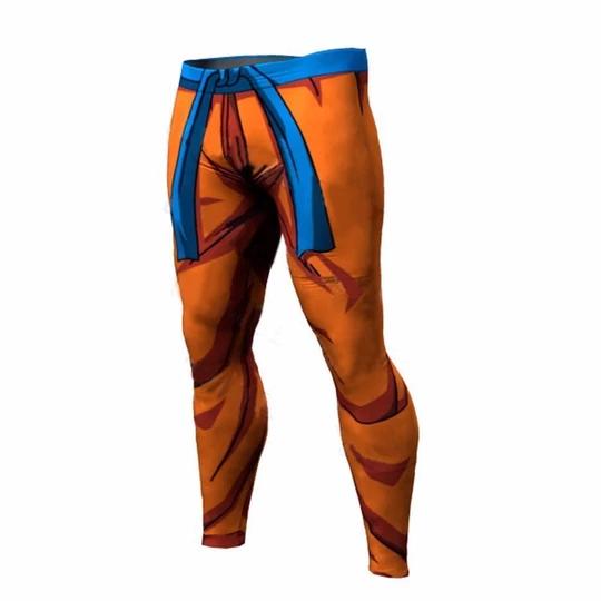 Long Pants Elastic Waist Dragon Ball Anime Fitness Leggings Goku Cospl Geekbuyig Slim Fit Joggers Compression Clothing Mens Compression Pants
