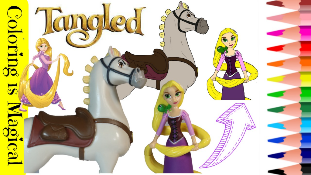 Tangled Maximus And Rapunzel Coloring Video Disney Princess Toys Tangled Tangled Coloring Pages