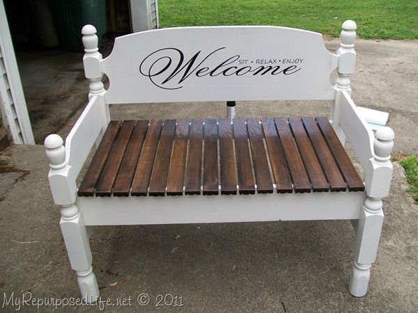 How To Make An Old Headboard Into A Cool Bench