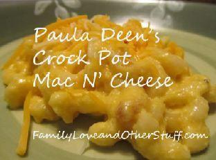 Paula Deen S Crock Pot Macaroni And Cheese Recipe Delicious