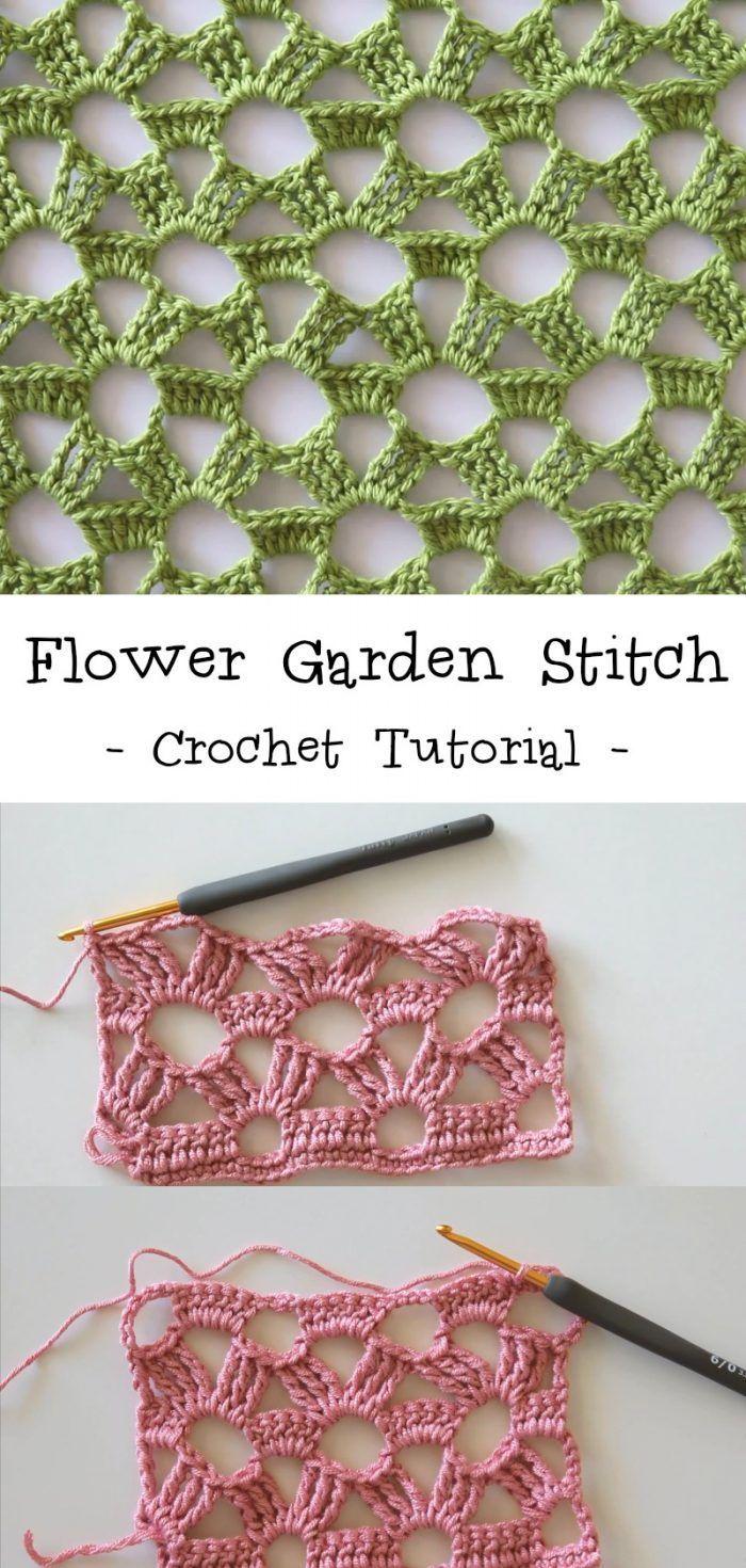 Flower Garden Stitch Häkelanleitung