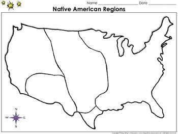 Native Americans: Regions Map - Blank - Full Page - King Virtue's ...
