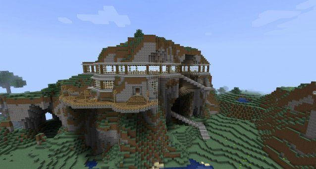 Minecraft mountain house ideas google search minecraft for Building a house in the mountains