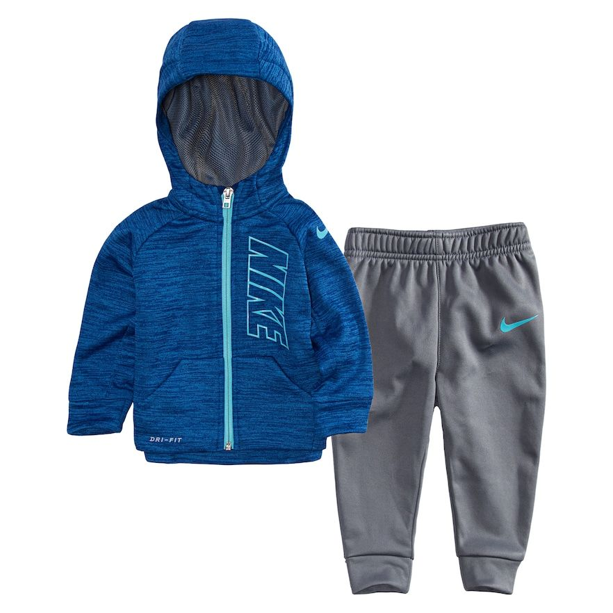 Baby Boy Nike Therma-FIT Space-Dyed Hoodie \u0026 Jogger Pants Set, Size