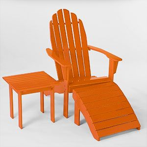 Burnt Orange Classic Adirondack Collection | Outdoor and ...