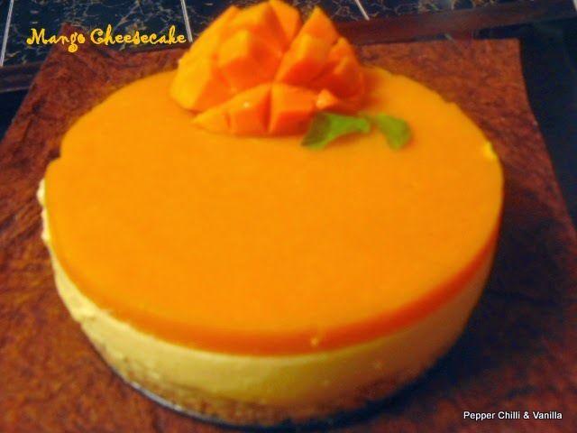 Mango Cheesecake No Bake Eggless Recipe Mango Cheesecake Mango Dessert Cheesecake Recipes