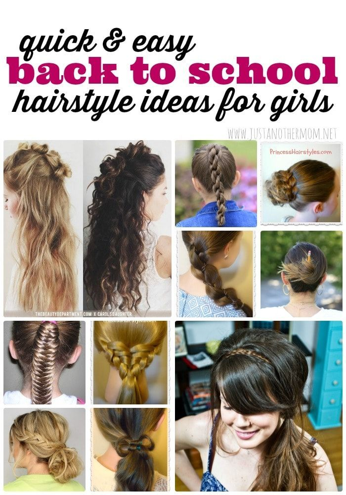 Quick and Easy Hairstyles for Girls for Back to School | Pinterest ...