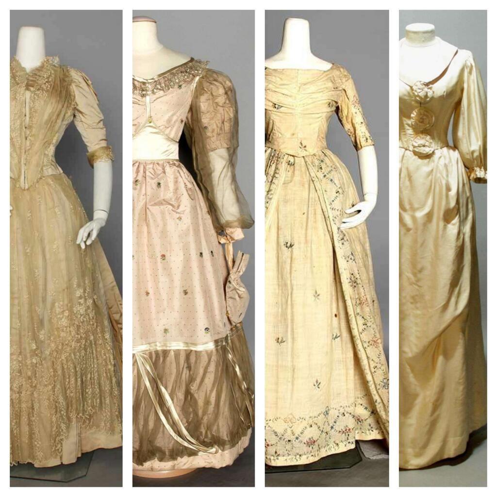 Elegant Weddings: 18th & 19th Century #wedding Dresses For