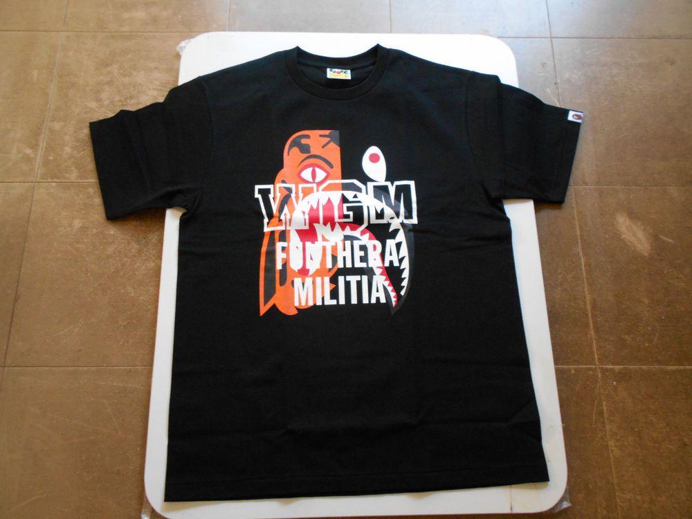a30cf2a9 AUTHENTIC A BATHING APE BAPE TIGER SHARK TEE T SHIRT BLACK L XL NEW RARE  #fashion #clothing #shoes #accessories #mensclothing #shirts (ebay link)