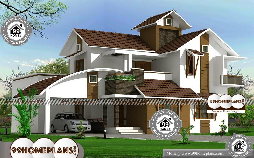 Kerala Contemporary House Plans With Double Floor Below 3000 Sq Ft Home Plans With Low Budget Contemporary House Plans Contemporary House Latest House Designs