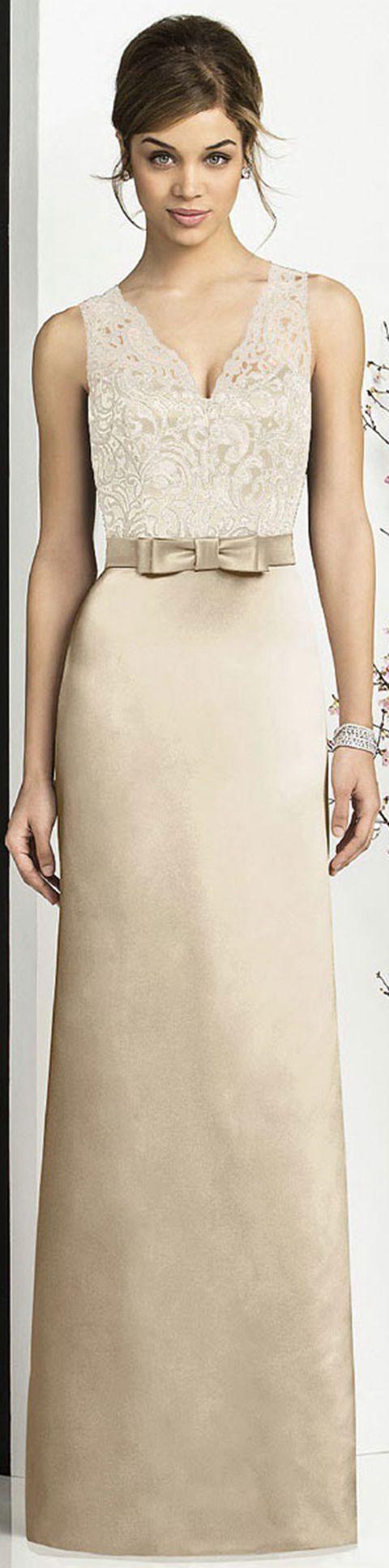 Satin A-line Zipper Floor-length V-neck Bridesmaid Dresses