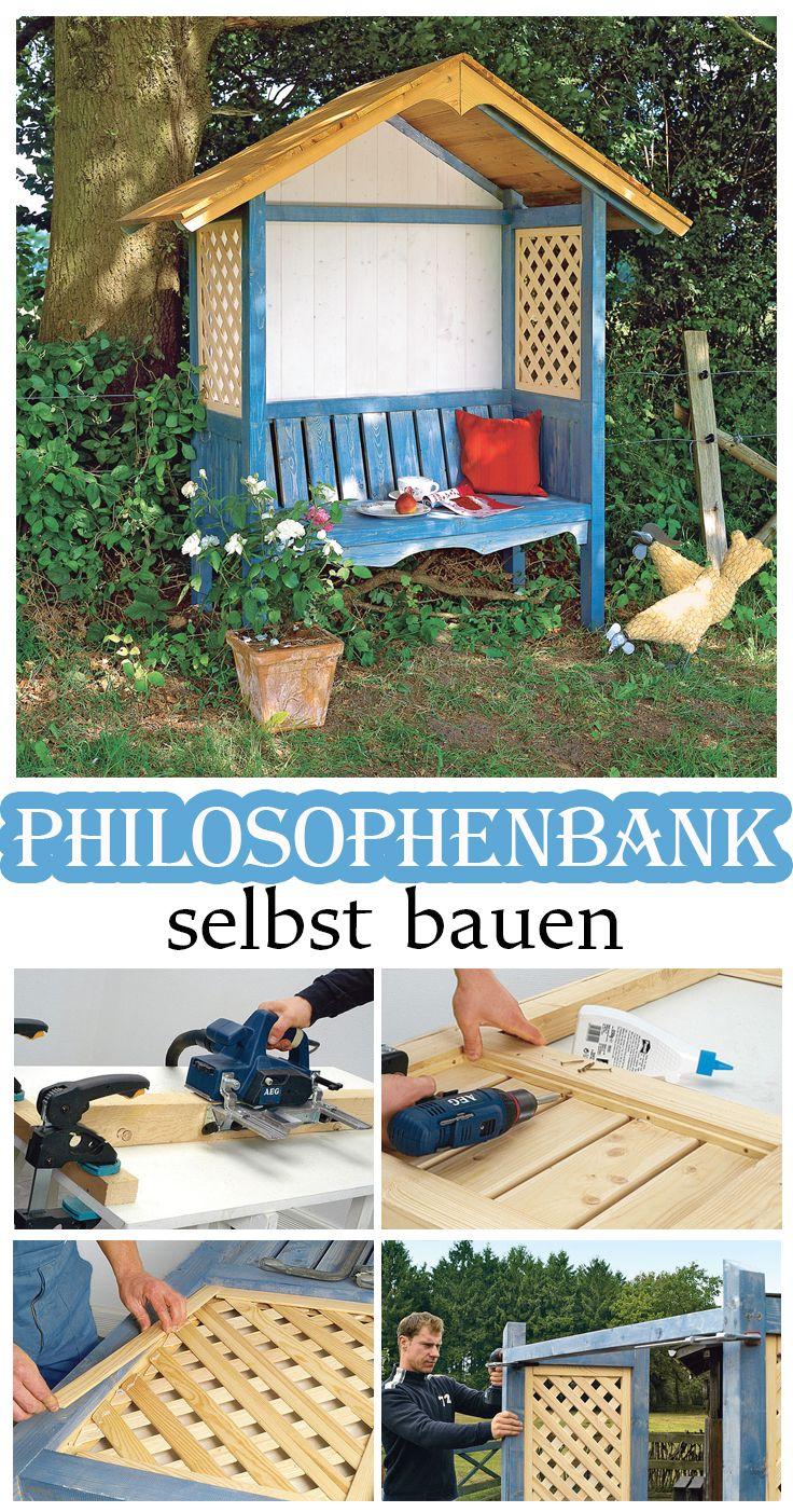philosophenbank gartenm bel bauen pinterest selbst bauen b nke und h bsch. Black Bedroom Furniture Sets. Home Design Ideas