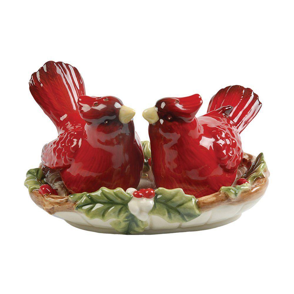 Cardinal Salt And Pepper Shaker Set By Famous Maker Kaldun U0026 Bogle  Featuring Stunning Red Cardinal And Detailed Design.