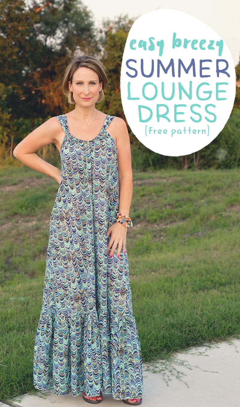 Easy breezy summer lounge dress pattern and tutorial dress