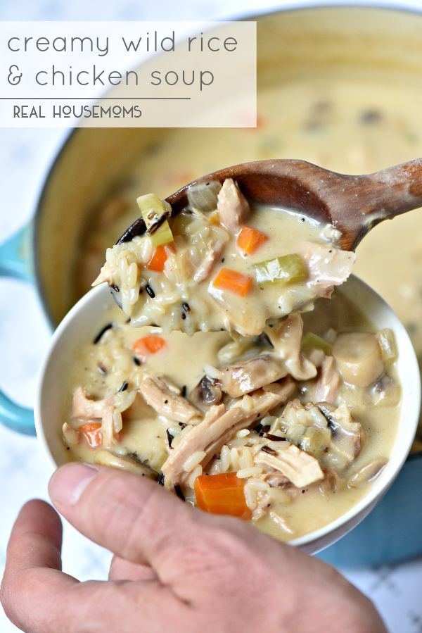 Creamy wild rice and chicken soup is the best fall comfort food creamy wild rice and chicken soup is the best fall comfort food ever its forumfinder Image collections