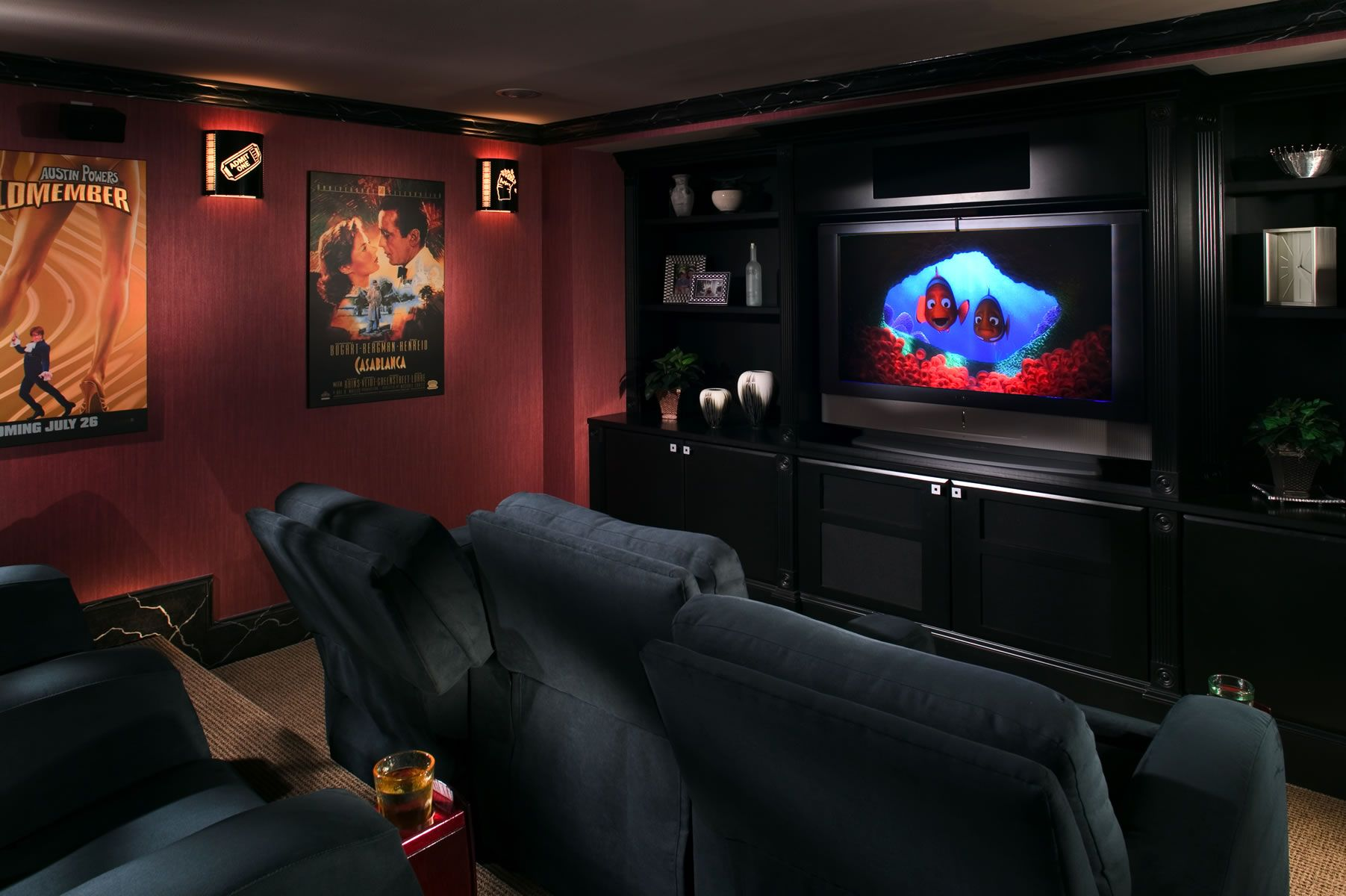 dimensions decor x ideas theater best wall decorations walls home throughout