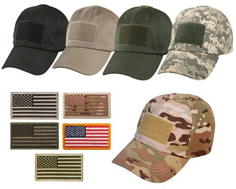 US flag tactical operator hat with Free US Flag Patch. Choose hat color and  patch color. c28f4ef1b6e1