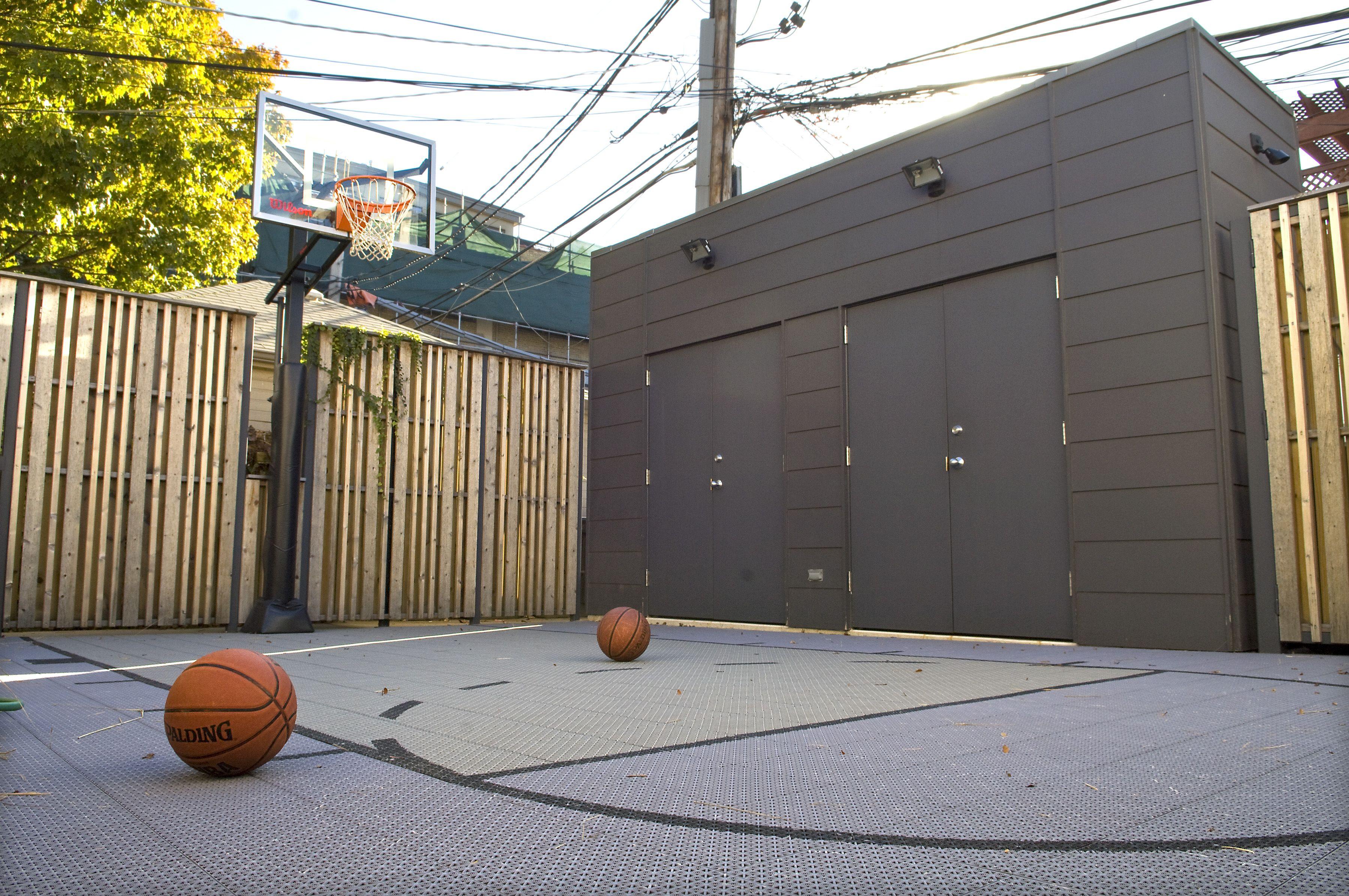 backyard sport court u0026 shed bob brobson inc chicago roof play