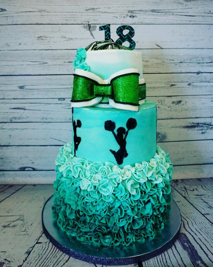 18th Birthday Cheerleading Cake My Cakes In 2019