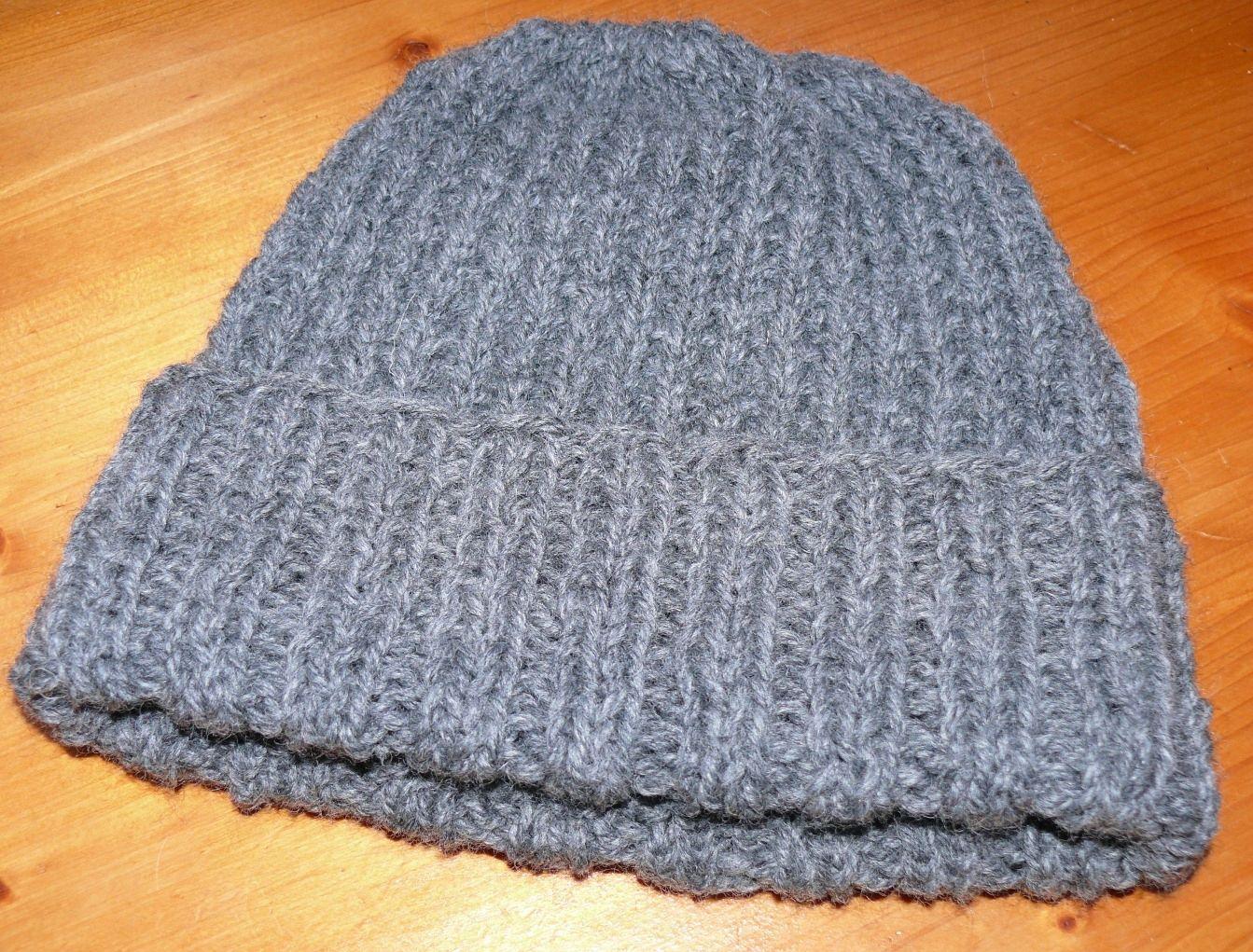 modele tricot bonnet homme aiguille 5