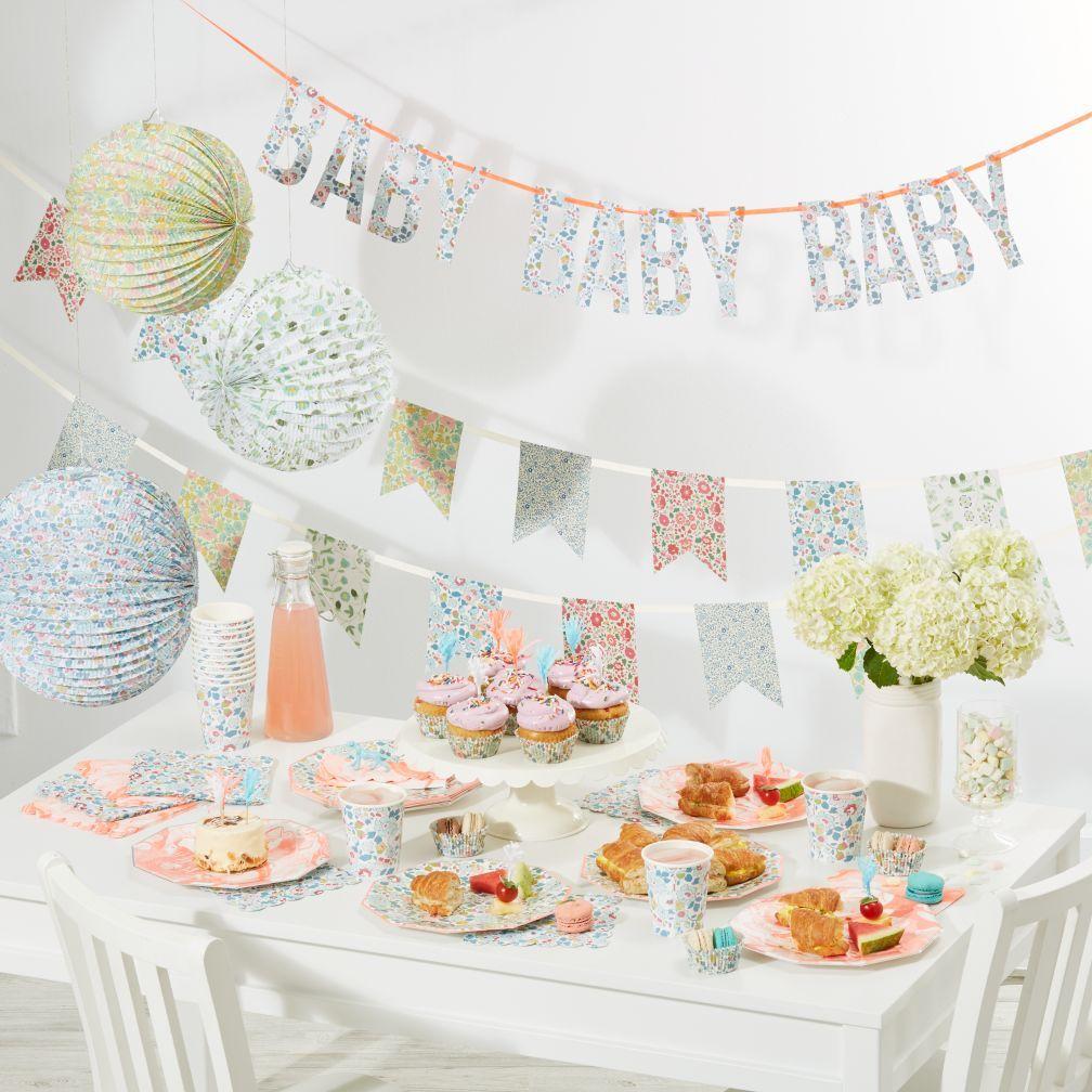 Birthday Party Meri Meri Coral Marble Paper Plate 8//pk