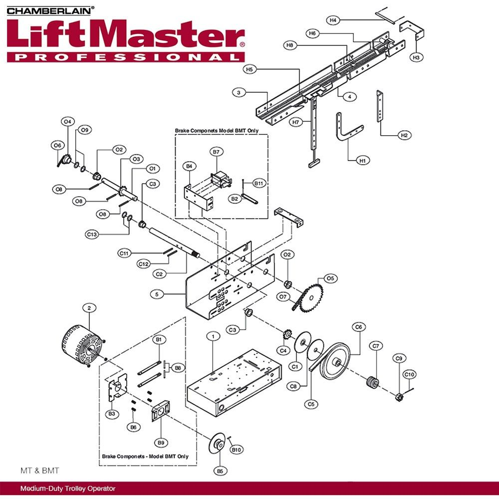 small resolution of liftmaster k mt5011 electrical box mt5011 115v rp 436 59 sp chamberlain garage door opener wiring diagram part 423lm