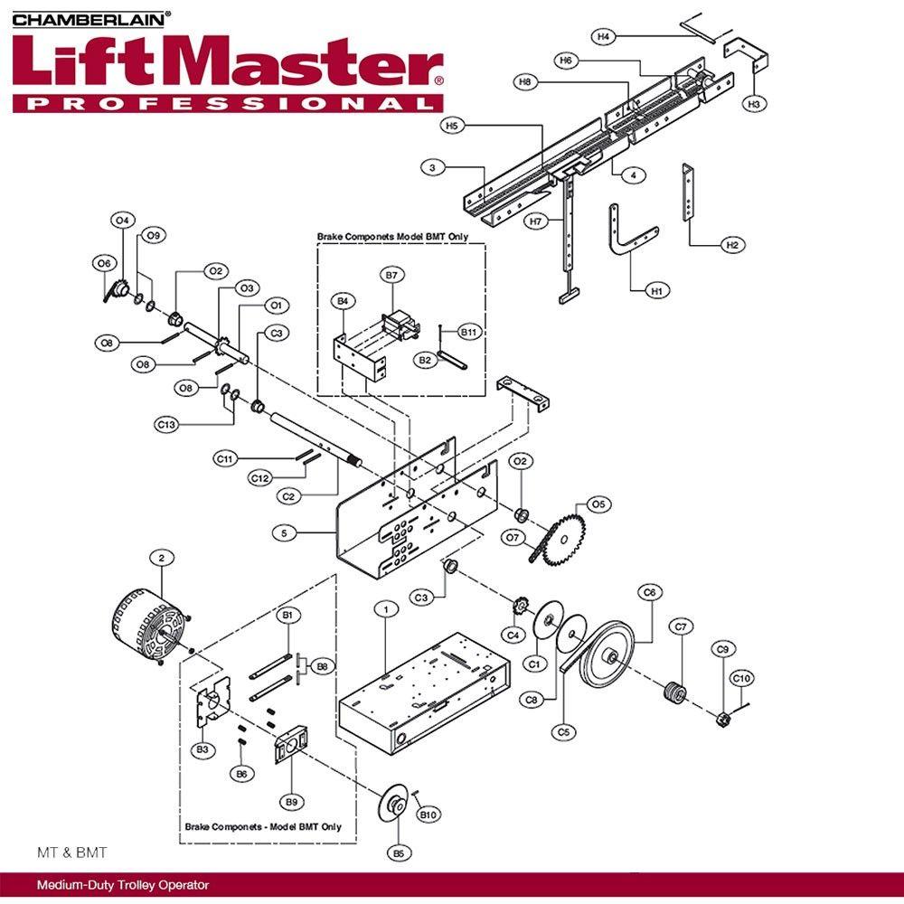 medium resolution of liftmaster k mt5011 electrical box mt5011 115v rp 436 59 sp chamberlain garage door opener wiring diagram part 423lm