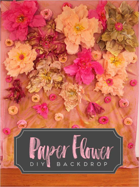 Paper Flower DIY Backdrop