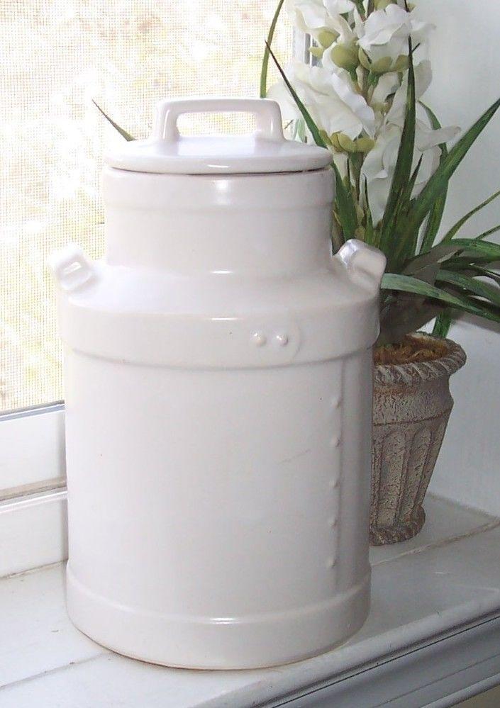 Rustic Cookie Jar Magnificent VINTAGE Cookie Jar MCCOY PRIMITIVE Milk Jug AMERICAN Made Farmhouse