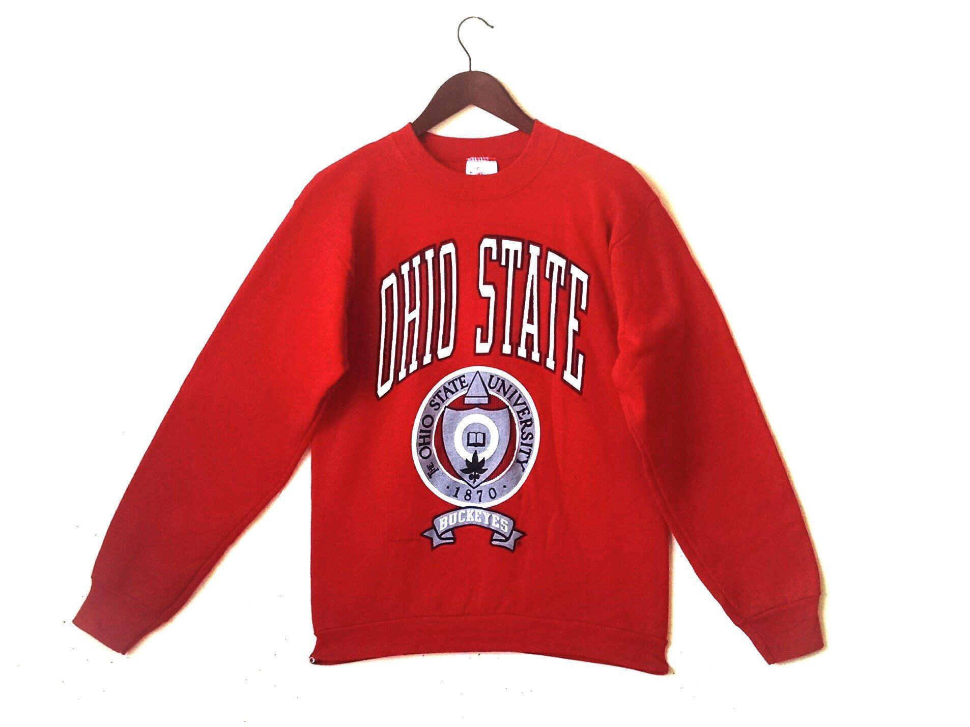 Vintage Ohio State University Buckeyes Crew Sweatshirt Etsy Vintage Sweatshirt Sweatshirts Crew Sweatshirts [ 1429 x 1906 Pixel ]