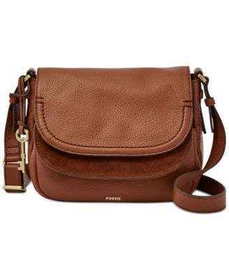 ff4207d8307 Fossil Peyton Leather Double Flap Bag