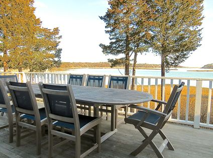 204-OB - Directly on the water, with sweeping views of Pochet Harbor with Nauset Beach and the Atlantic beyond. You have waterfront dining for every meal.
