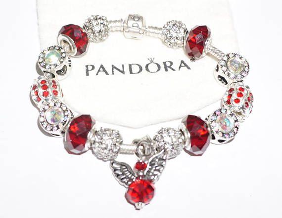 Ravishing in Red White Crystals Authentic Jared Pandora