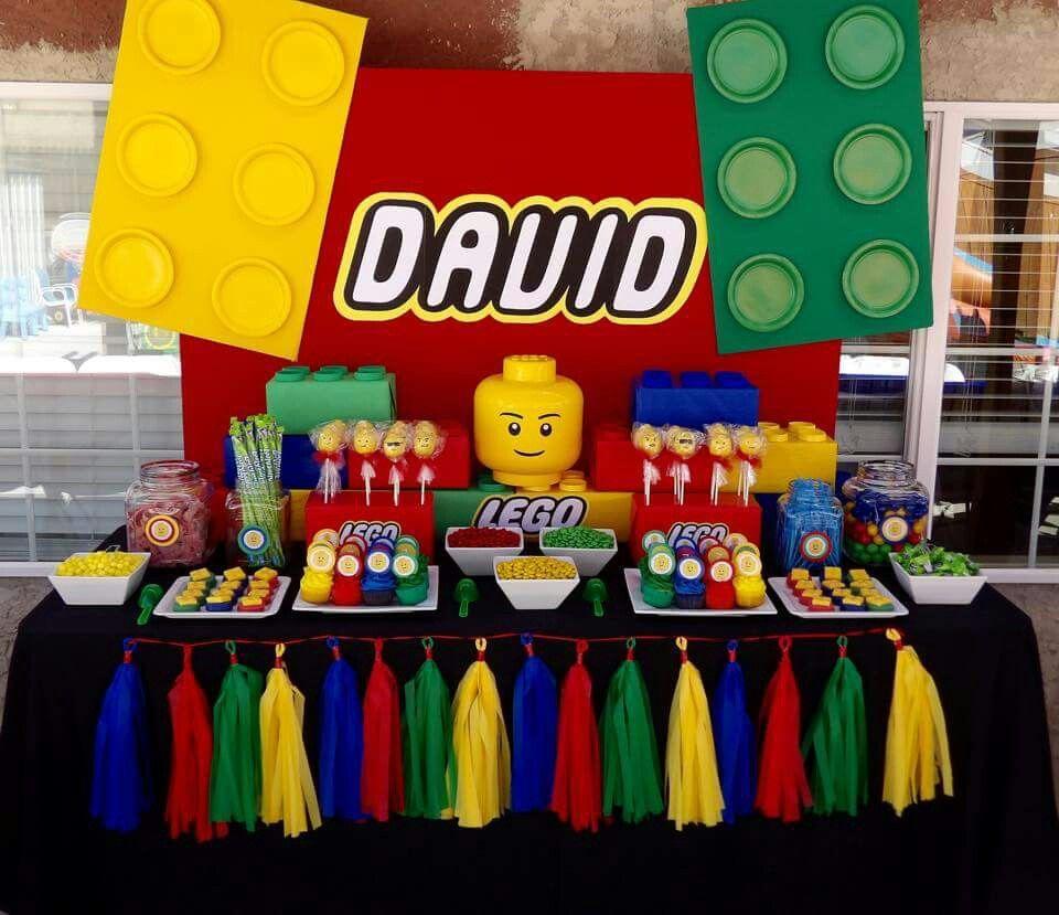 A Lego Ninjago Birthday Party: Lego Dessert Table