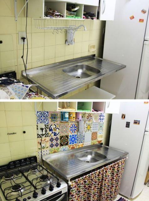 Pobre cozinha simples