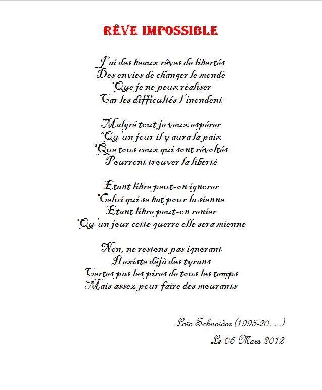 16 Reve Impossible Poeme Poesie Reve