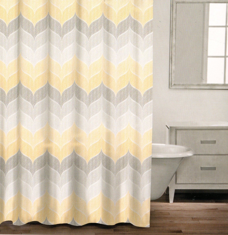Amazon Com Caro Home 100 Cotton Shower Curtain Wide Stripes