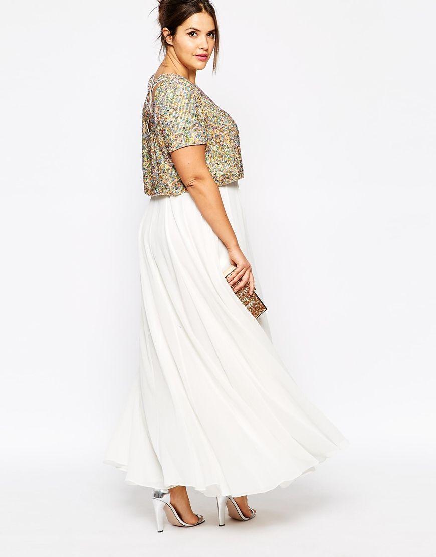 0f316f909d CURVE WEDDING Maxi Dress With Sequin Top | okay fine i do | Maxi ...