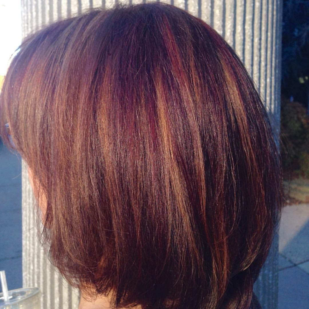 Beautiful fall haircolor red violet with highlights on natural beautiful fall haircolor red violet with highlights on natural base wella koleston colortouch at tysons corner va united states vtopaller Images